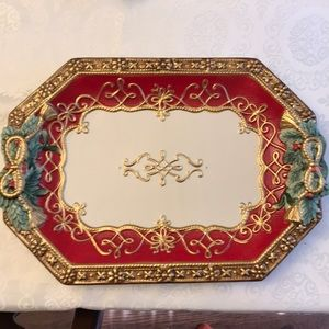 Fitz and Floyd Holiday Soltice Serving Platter